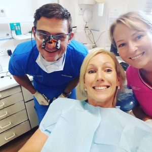 Helen with Steve Moore at OCM Dental