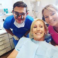 Helen with Steve Moore at OCM Dental
