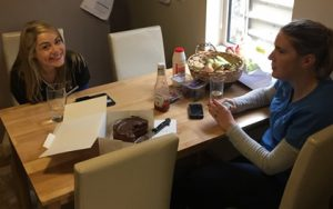 ann corry and louie brennan in kitchen at OCM Dental