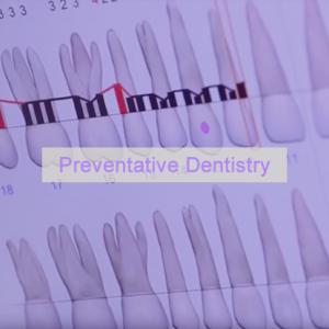 Teeth projected on screen