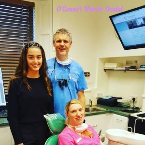 Rosie doing work experience with Paddy and Caroline at OCM Dental